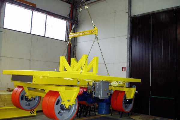 Electric trolley for turbine