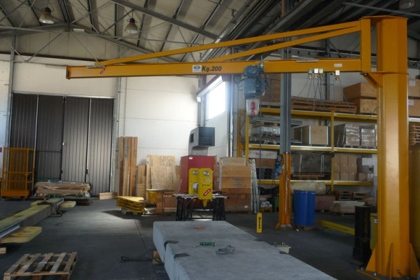 Gbh-type column-mounted cranes