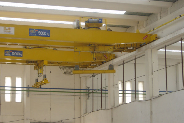 Crane with rotation beam