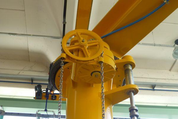 Guindastes giratórios com rotação manual de 360° GBRM